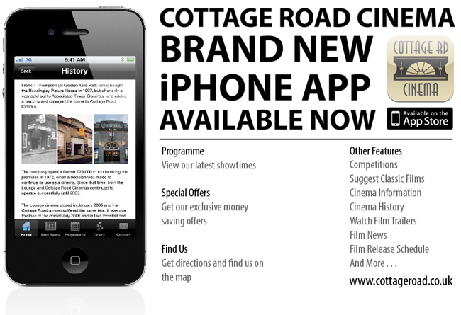 Cottage Road Cinema iPhone App
